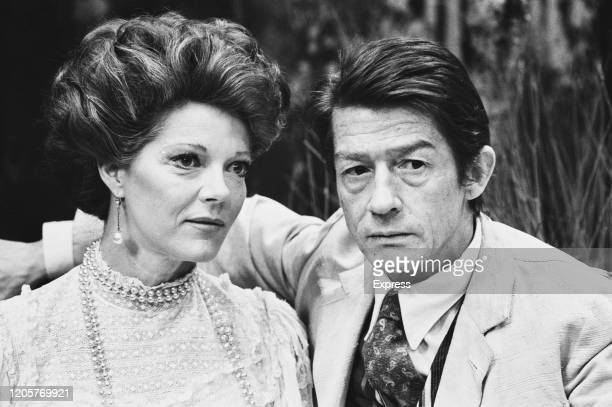 British actress Samantha Eggar and British actor John Hurt during a photo call for Anton Chekhok's 'The Seagull' at the Lyric Theatre in Hammersmith,...