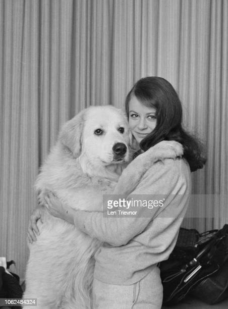 British actress Sarah Miles with her dog UK 2nd February 1963