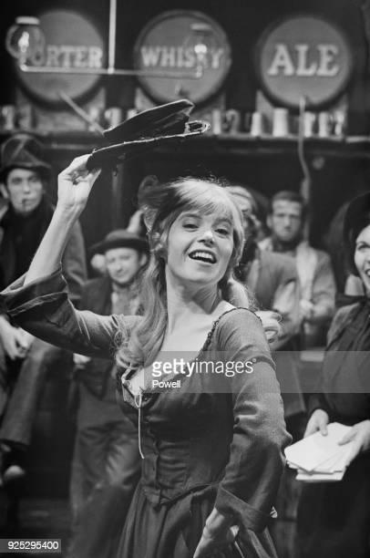 British actress Shani Wallis as 'Nancy' on the set of musical drama film 'Oliver' at Shepperton Studios UK 27th April 1968
