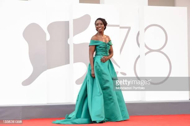British actress Sharon Duncan-Brewster at the 78 Venice International Film Festival 2021. Dune red carpet. Venice , September 3rd, 2021