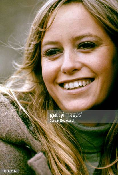 British actress Susan George on the set of Straw Dogs directed by Sam Peckinpah