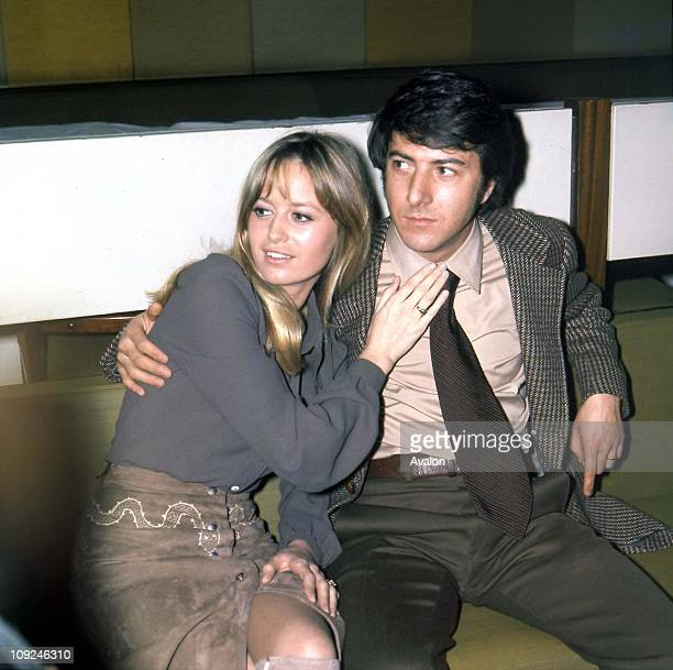 British Actress Susan George with DUSTIN HOFFFMAN American Actor