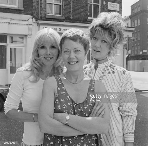 British actress Susan Hampshire British actress Annette Crosbie and British actress Amanda Barrie pose for a group portrait on Catherine Street...