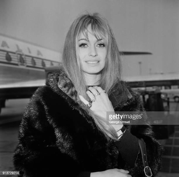British actress Suzy Kendall at Heathrow Airport London UK 23rd January 1968