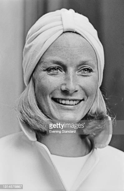 British actress Tania Mallet , UK, 26th September 1973. She starred in the 1964 James Bond film 'Goldfinger'.