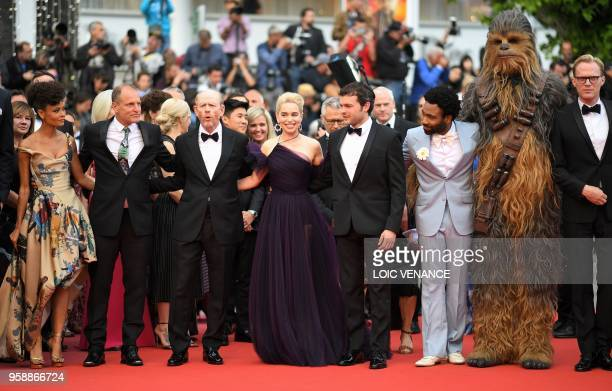 British actress Thandie Newton US actor Woody Harrelson US director Ron Howard British actress Emilia Clarke US actor Alden Ehrenreich Chewbacca US...