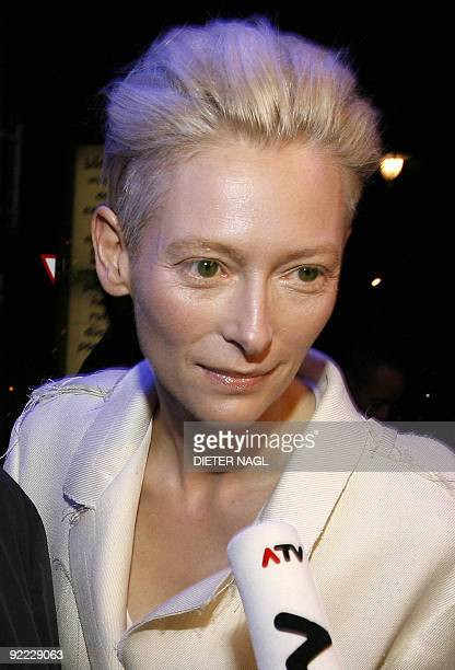 British actress Tilda Swinton arrives for the opening of the Vienna 'Viennale' filmfestival on October 22 2009 in Vienna The Scottish actress is the...