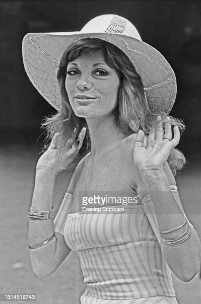 British actress Trudi Van Doorn, born Geraldine Gardner, UK, 17th July 1973.