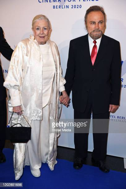British actress Vanessa Redgrave and her husband italian actor Franco Nero attend the Cinema for peace gala 2020 during the 70th Berlinale...