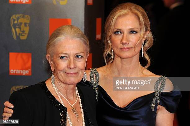 British actress Vanessa Redgrave arrives with her daughter actress Joely Richardson for the British Academy of Film Awards at the Royal Opera House...