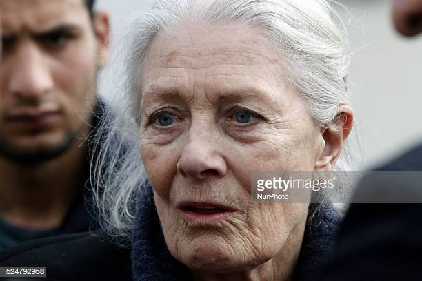 British actress Vanessa Redgrave visited the refugee and migrant hospitality camp in Eleonas, Athens on Tuesday, January 5 accompanied by Greece's...