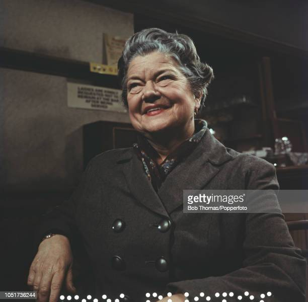 British actress Violet Carson best known for her role as Ena Sharples in the ITV television soap opera 'Coronation Street' 1972
