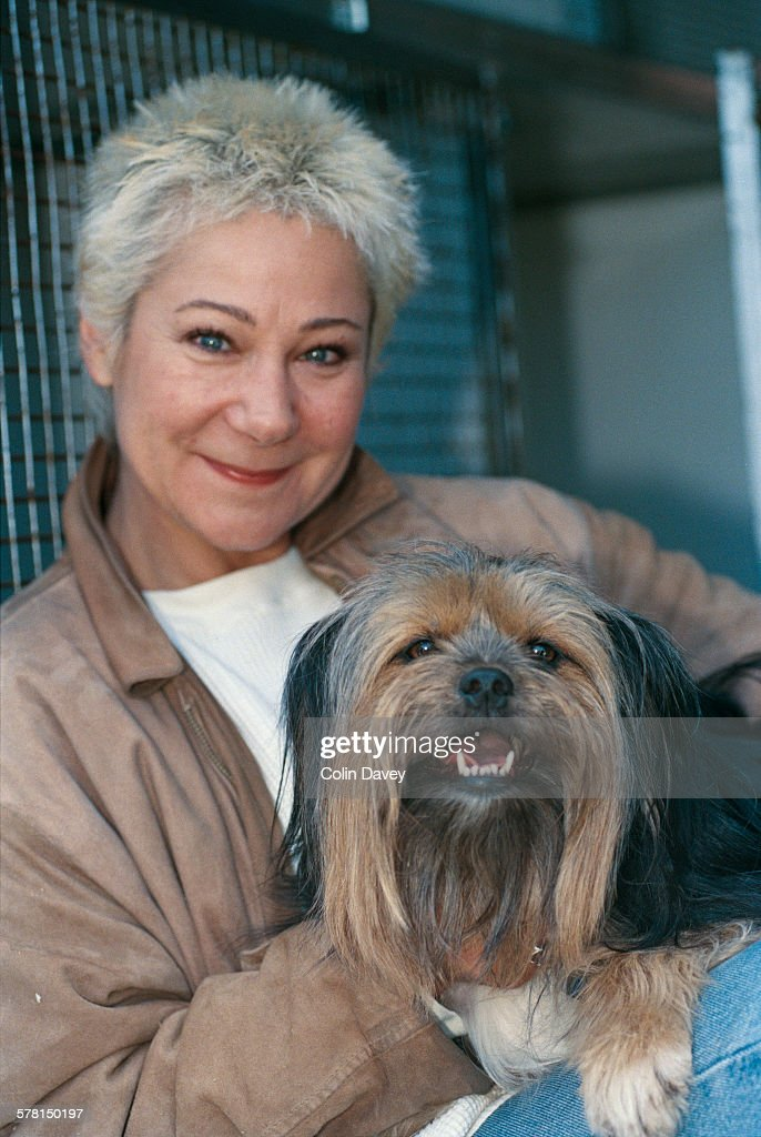 British actress Zoë Wanamaker at the Battersea Dogs Home in London, UK, 26th April 1996.