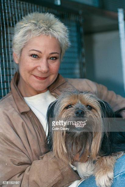 British actress Zoë Wanamaker at the Battersea Dogs Home in London UK 26th April 1996