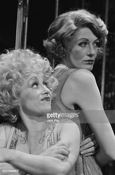 British actresses Barbara Windsor as Lucy and Vanessa Redgrave as Polly in Tony Richardson's production of 'The Threepenny Opera' by Bertolt Brecht...