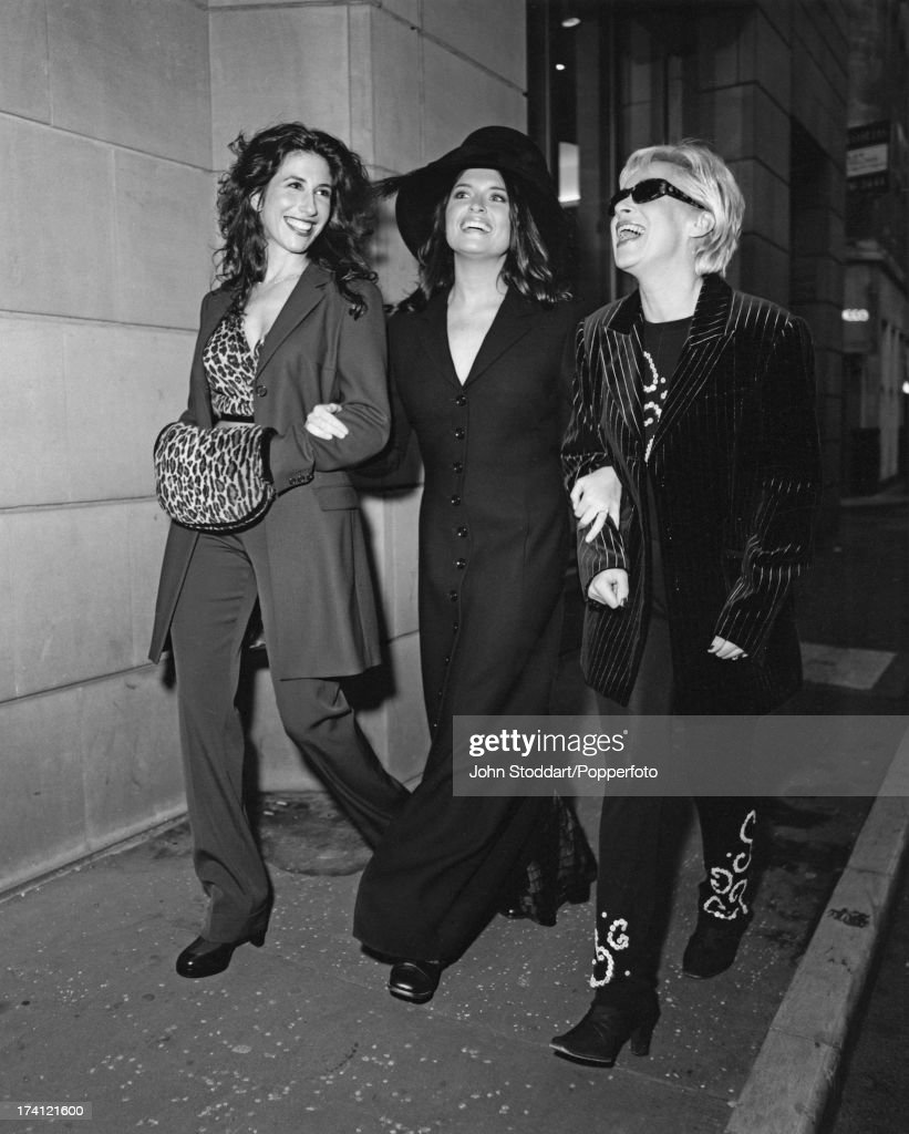 British actresses Gaynor Faye, Tina Hobley and Denise Welch, from the television soap opera 'Coronation Street', circa 1996.
