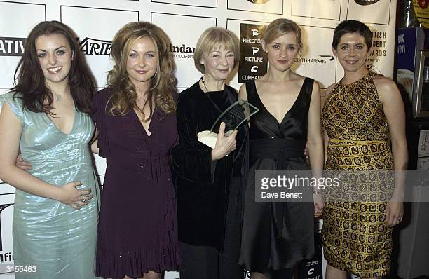 British actresses Geraldine McEwan Anne Marie Duff Dorothy Duffy NoraJane Noone and Eileen Walsh attend the British Independent Film Awards 2003 held...