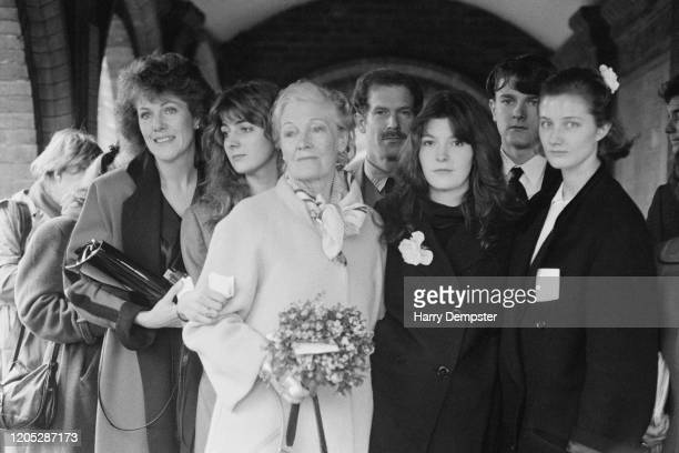 British actresses Lynn Redgrave , Natasha Richardson , Rachel Kempson , Joely Richardson, Jemma Redgrave and Vanessa Redgrave attend the funeral of...