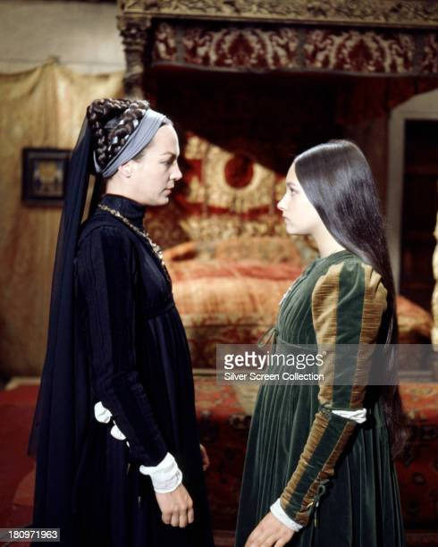 British actresses Natasha Parry as Lady Capulet and Olivia Hussey as Juliet in 'Romeo And Juliet' directed by Franco Zeffirelli 1968