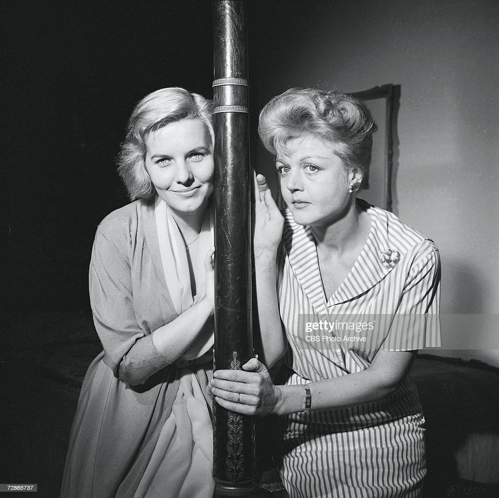 British actresses Patricia Cutts (1926 - 1974) (left) and Angela Lansbury in the CBS television Playhouse 90 production of 'The Grey Nurse Said Nothing,' November 10, 1959.