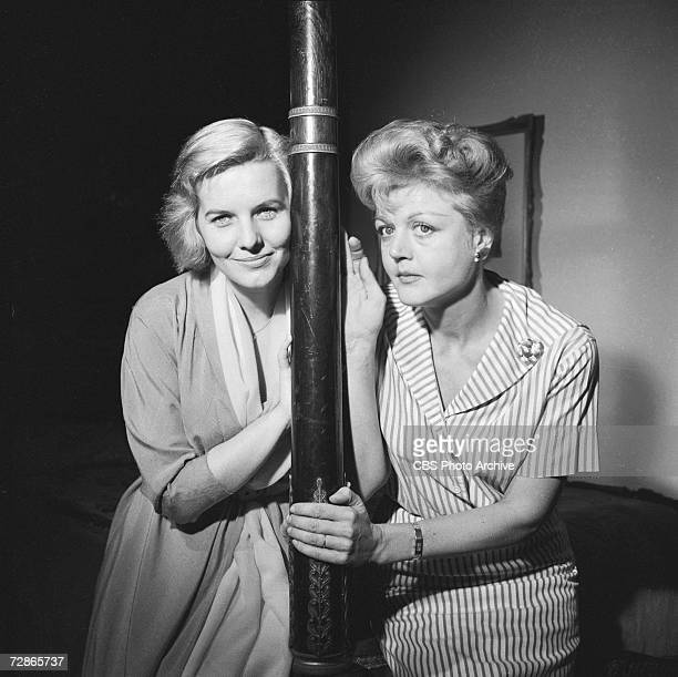 British actresses Patricia Cutts and Angela Lansbury in the CBS television Playhouse 90 production of 'The Grey Nurse Said Nothing' November 10 1959