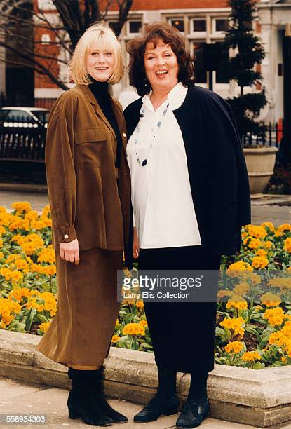 British actresses Sarah Lancashire and Pam Ferris UK circa 1997 In 1997 they costarred in the television drama series 'Where the Heart Is'