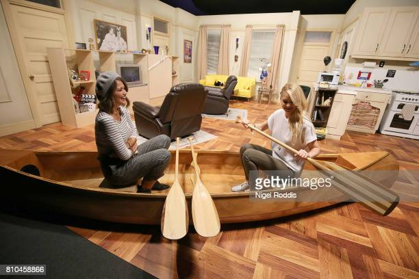 British actresses Sophie Porley and Amanda Clapham attend the opening of Comedy Central UK's FriendsFest at Hillsborough Park on July 7 2017 in...