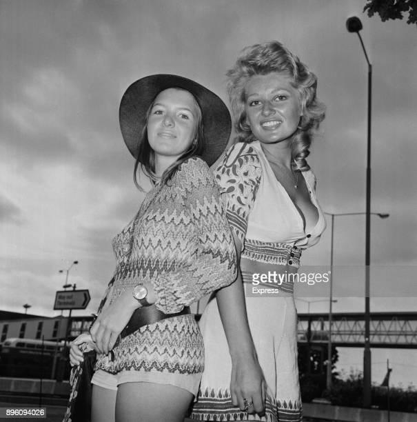 British actresses Stephanie Beacham and Verna Harvey UK 30th August 1971