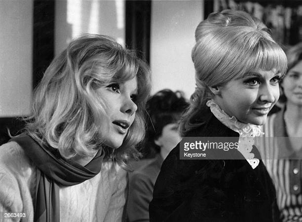 British actresses Susan Hampshire and Nyree Dawn Porter at a photo session the day before the BBC2 screening of the first episode of the classic...