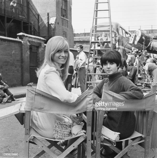 British actresses Suzy Kendall and Adrienne Posta on the set of the film 'To Sir, With Love', UK, 3rd June 1966.