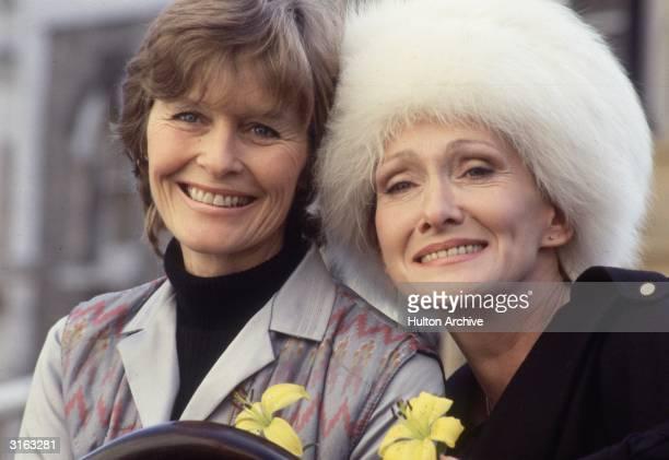 British actresses Virginia McKenna and Sian Phillips at the Theatre Royal Drury Lane London