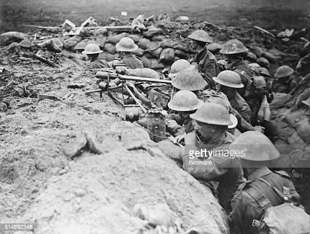 British advance post in the front line trenches.