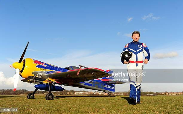 British aerobatic pilot Paul Bonhomme of Team Bonhomme poses for a portrait on February 5 2010 in Saffron Walden England Bonhomme is the current 2009...