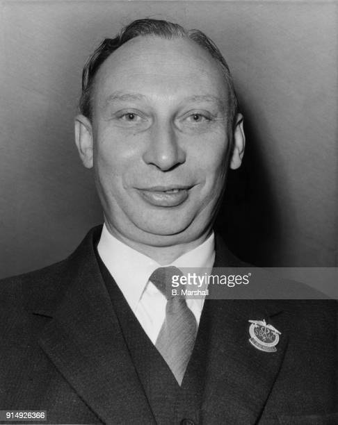 British aeronautical engineer Arnold Alexander Hall Managing Director of Hawker Siddeley at the Farnborough Air Show UK 8th September 1964 He is...