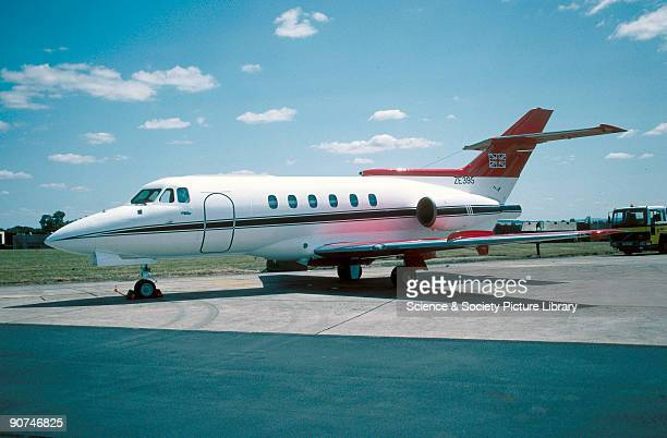 British Aerospace Ba125 CC2 of No32 Squadron, based at RAF Northolt, Middlesex, previously operated for government VIP flights and now available to...