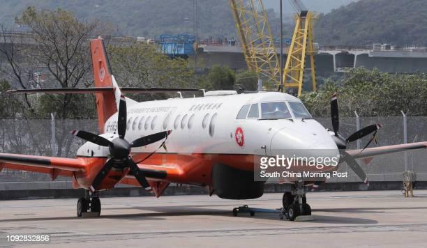 British Aerospace Jetstream 41MPA at Government Flying Service headquarters at Hong Kong International Airport, Chek Lap Kok. 03MAR17 SCMP / Edward...