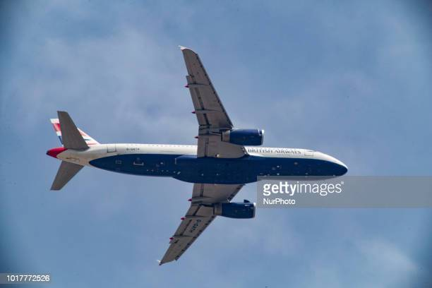 A British Airlines Airbus A320 with registration GGATH is landing in Thessaloniki Greece from Londong Gatwick UK operating the summer seasonal flight...