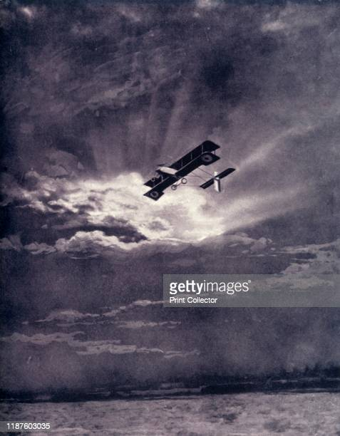 British Airman Returning at Sunset After Successful Journey' 1917 From The War Illustrated Album De Luxe Volume VIII Ending The First Three Years...