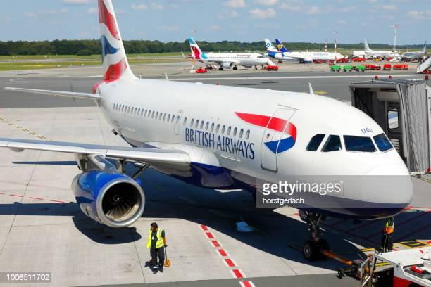 British Airways Airbus A319 at Hamburg International Airport