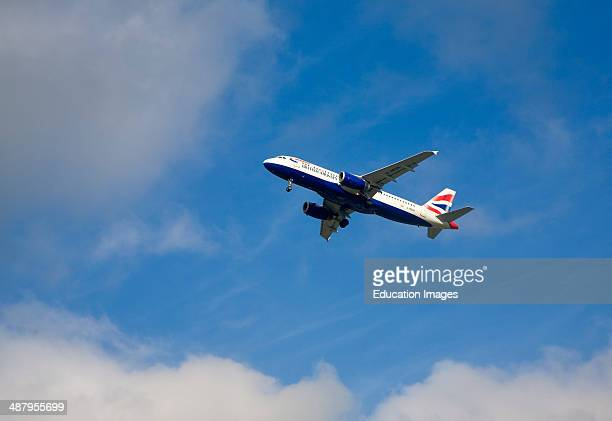 British Airways Airbus A320232 airplane taking off from Gatwick airport London UK