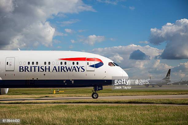 British Airways aircraft at Heathrow Airport on October 11 2016 in London England The UK government has said it will announce a decision on airport...