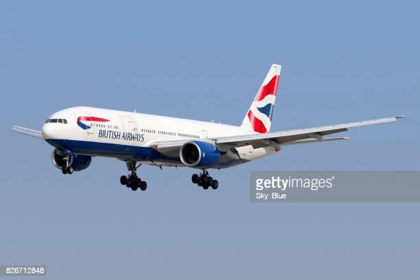 british airways aircraft - british airways stock pictures, royalty-free photos & images