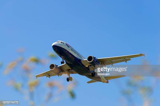 British Airways Airplane Airbus A319 landing