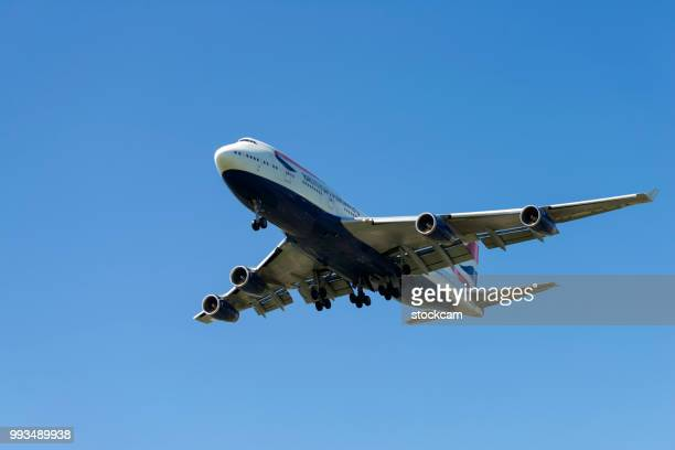 "british airways airplane ""jumbo"" 747 - british airways stock pictures, royalty-free photos & images"