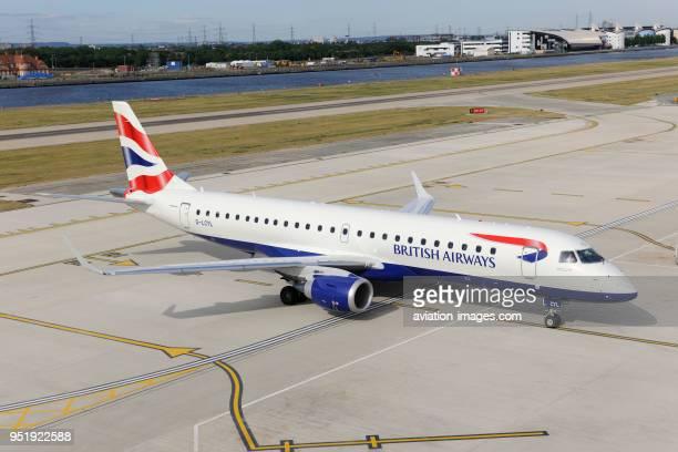 British Airways BA CityFlyer Embraer 190LR taxiing at London City