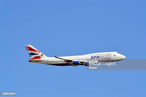 British Airways Boeing 747 In Flight