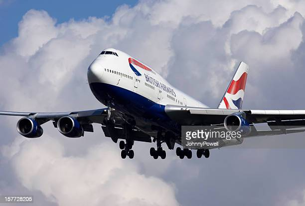british airways boeing 747 - british airways stock pictures, royalty-free photos & images