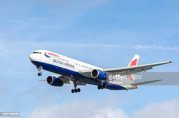 british airways boeing 767-300 - british airways stock pictures, royalty-free photos & images