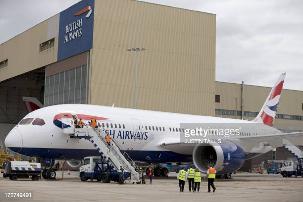 A British Airways Boeing's 787 Dreamliner parked at Heathrow Airport in London on July 4 2013 British Airways today became the first British airline...