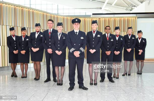 British Airways cabin crew all named Harry or Meghan who will be operating today's Heathrow to Toronto flight in celebration of the Royal Wedding at...